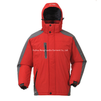 BF-JK-031PP Mens polyester pongee ski jacket with PVC coating