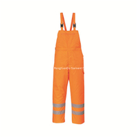 Hi Vis 300D Polyester Oxford Reflective Safety BIB Pant