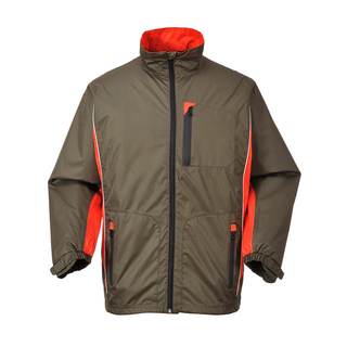 190T Polyester Pongee Ripstop with PU Clear Coating Windbreaker Set