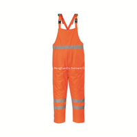 170T Polyester With PVC Coating Winter Padded Safety BIB Pant